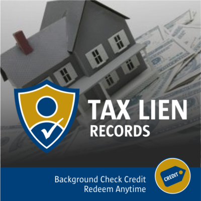 Tax Lien Records Search